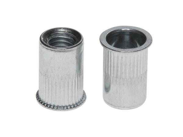 Заклепка резьбовая М10 уменьшенный бортик, белый цинк (2000 шт в коробе) starfix