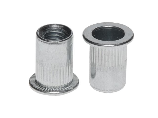 Заклепка резьбовая М8 цилиндрический бортик, белый цинк (2500 шт в коробе) starfix