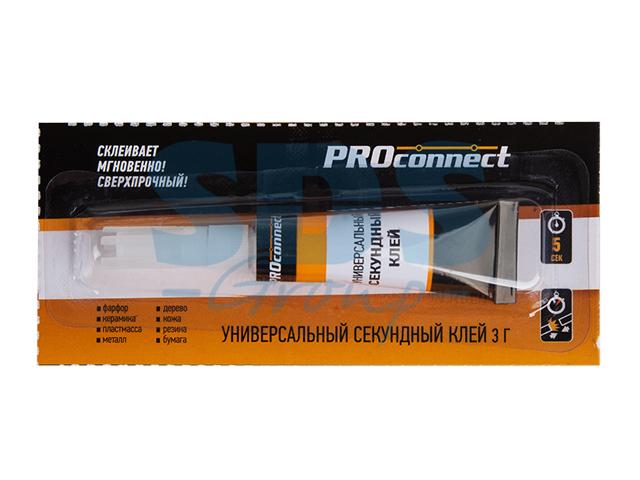 Клей универсальный секундный(3 г) на мульти-карте proconnect